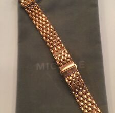 MICHELE DECO 16 (ONLY) 18KT ROSE GOLD PLATED 16MM WATCH BRACELET MS16DM267715