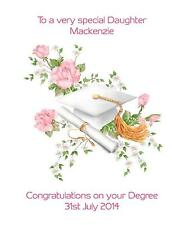 Personalised A5 Degree Graduation Congratulations Card Any Relation Daughter Mum