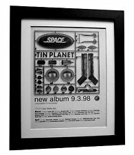 SPACE+Tin Planet+TOUR DATES+POSTER+AD+RARE ORIGINAL 1998+FRAMED+FAST GLOBAL SHIP
