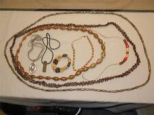 Vintage Lot 8 Native Tribal Art Bead Necklaces & Bracelet Costume Jewelry 70/80s