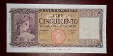 REPUBBLICA D'ITALIA 500 LIRE ITALIA  ORNATA DI SPIGHE MEDUSA DECR 23 MARZO 1961