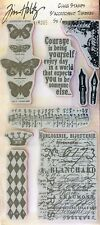 TIM HOLTZ VISUAL ARTISTRY rubber cling stamps BUTTERFLY MELANGE for stamping