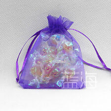 100 LARGE ORGANZA WEDDING FAVOUR CANDY CHRISTMAS GIFT BAGS JEWELRY POUCHES