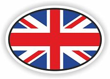 OVAL English UK FLAG ADESIVO Regno Unito Moto Auto Furgone Laptop Bicicletta PARAURTI