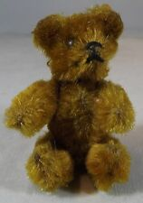 "VINTAGE 2.5"" MINIATURE SCHUCO JOINTED MOHAIR TEDDY BEAR WITH METAL EYES"