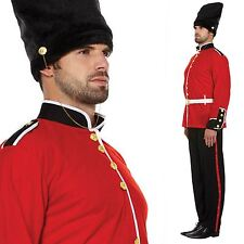 MENS ADULT RED ROYAL BUSBY BUZBY LONDON QUEEN GUARD FANCY DRESS COSTUME