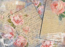 Papel De Arroz Para Decoupage, Scrapbooking sheets/craft Papel Rosas Y Carta
