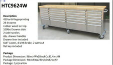 """HUGE 96"""" 8' Foot Stainless Steel Rolling Tool Cart Chest Cabinet Workbench"""