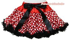 Minnie Red White Polka Dots Skirt Dance Party Dress For Girl Adult Women Lady