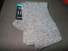M&S 1 Pr Soft Cosy Winter Warmer Design Tights EXTRA LARGE Grey Marl BNWT