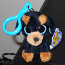 Ty Beanie Boos Key Clip ~ TUFFY the Rottweiler Dog ~ MINT with NEAR MINT TAGS
