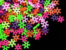 500 x 6.5mm Mixed Colour Opaque Acrylic Snow Flake Spacer Beads XX112