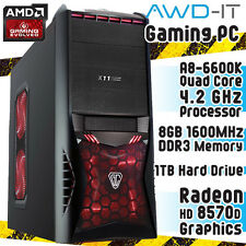 ULTRA Veloce Quad Core 8gb 1tb HD Gaming PC Computer AMD HDMI USB 3.0 WIN 7 a 64 Bit