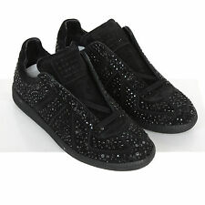 MAISON MARTIN MARGIELA crushed crystal shoes smashed rhinestone sneakers 40 NEW