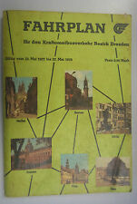 Fahrplan für den Kraftomnibusverkehr Bezirk Dresden 1977/1978 Görlitz Bautzen ..
