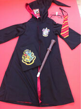 Harry Potter Gryffindor costume tie sound wand & glasses & book day  5/6 years