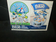 TORONTO BLUE JAYS 1991 OFFICIAL SCHEDULE W/ ALL-STAR GAME 91'LOGO