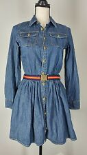 Polo Ralph Lauren Girls Size 14 Denim Shirt Dress Long Sleeves with Belt