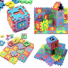 36PCS Cute Alphabet & Numerals Baby Kids Play Mat Educational Toy Soft Foam Mats