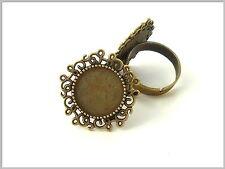 10 Ringrohlinge bronze verziert Ring Rohling vintage