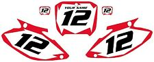 2002-2003 HONDA CR250 Custom Pre-Printed White Backgrounds Red Shock Series