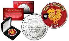 2017 Chinese New YEAR OF THE ROOSTER Royal Canadian Mint Medallion Coin with Box