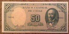 Billete De Chile. 5 Centavos/50 Pesos. UNC. 1960/61