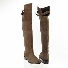 Dolce Vita Leroux Women's Brown Leather Nubuck Over The Knee Boots Sz 6 M NEW!