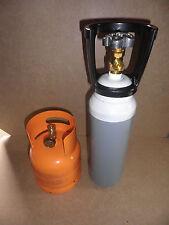 Bombola Ossigeno da 2,9  litri e bombola propano  1 kg  saldatura cannello