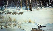 Robert Bateman -  Wolves on the Trail S/N  LTD   Paper Print   15-1/2' x 20""