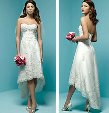 White/Ivory Short Wedding Dresses Beach Bridal Gowns Prom Formal Evening Dresses