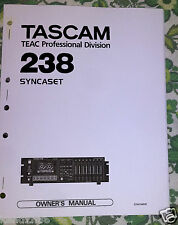 TASCAM 238 [8]Track  -- OWNERS / INSTRUCTIONS MANUAL [Book]