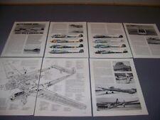 VINTAGE..FOCKE-WULF FW 189A-2.... 3-VIEWS/CUTAWAY/DETAILS/SPECS..RARE! (35C)