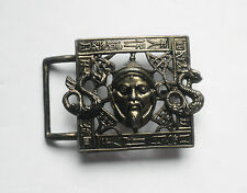Vintage Brass Mongol Dragon Levy Bros. Belt Buckle