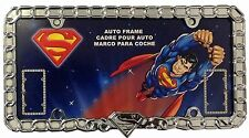"""New DC Comics Superman """"Unchained"""" Chrome Auto License Plate Frame -SINGLE FRAME"""