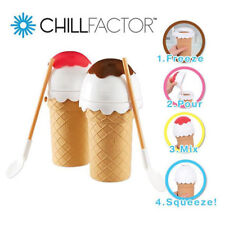 CHILLFACTOR ICE CREAM MAKER FREEZE SQUEEZE KIDS KITCHEN GADGET TOY VANILLA PINK