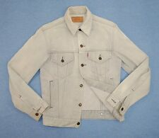 Levi's Denim Trucker Jean Jacket Small 36 Light Gray White Original No Big E LVC