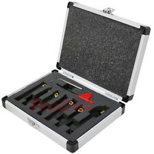 7 Pc 1/4'' Indexable Turning Tool Set with Carbide Inserts Lathe Tool Holder