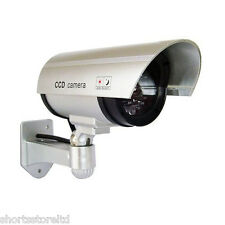 2 Pack Dummy Surveillance Security Camera Blinking Light Home Office Video Fake