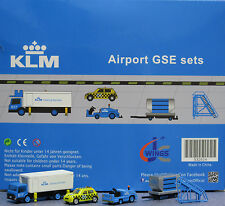 KLM GSE set JC Wings Airport Scenic Series Ground Services Equipment   XX2024