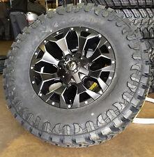 """(5) 18"""" Fuel D546 Assault Black Wheels 35"""" Atturo MT Tires Jeep Wrangler JK TJ"""