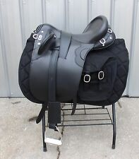 "Special Police model 18"" black Australian saddle with all matching accessories"
