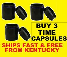 Lot of 3X TIME CAPSULE STORAGE CONTAINER/Jar/Can/Stash/ - AIR+WATER+ODOR PROOF