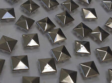 CraftbuddyUS 100 x 12mm Silver Square Pyramid Studs Goth Leather craft Denim