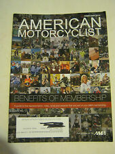 February 2012 American Motorcyclist Magazine, Benefits Of Membership (BD-13)