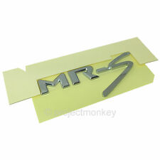 JDM Toyota 99-07 MR2 Spyder MRS Rear Emblem Badge Chrome MR-S ZZW30 Genuine OEM