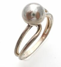 Sterling Silver Orb Ring Vintage Size 9 Boho Chic Stackable Jewelry Rings 925