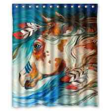 Hot New Design Custom Horse Painting Bathroom Fabric Shower Curtain 60x72 inch