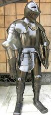 KNIGHT FULL SUIT OF ARMOUR BLACK ANTIQUE , ARMOURY HALLOWEEN COSTUME