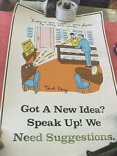 F8 Vintage RARE Ted Key Positive attitude poster 1989 Economics Press New Jersey